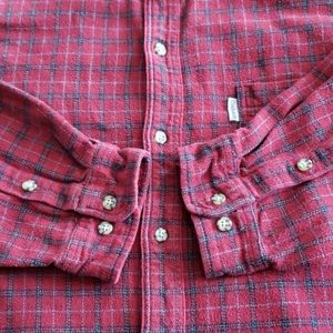 Carhartt Work Flannel Red and Black Mens Sz XXL